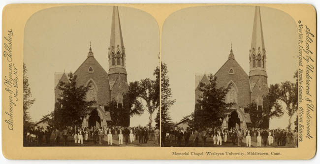Memorial Chapel stereograph, 1893