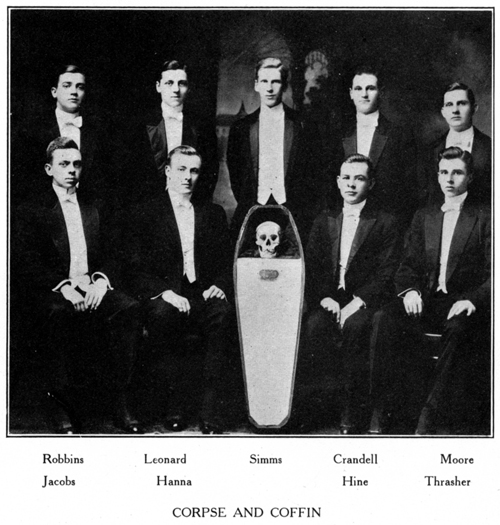 Corpse and Coffin Society, Wesleyan University, 1912