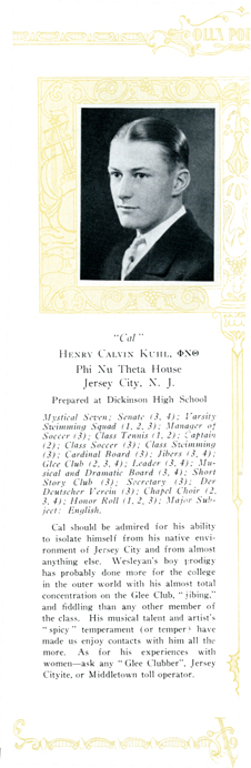Henry Calvin Kuhl, Olla Podrida, 1927
