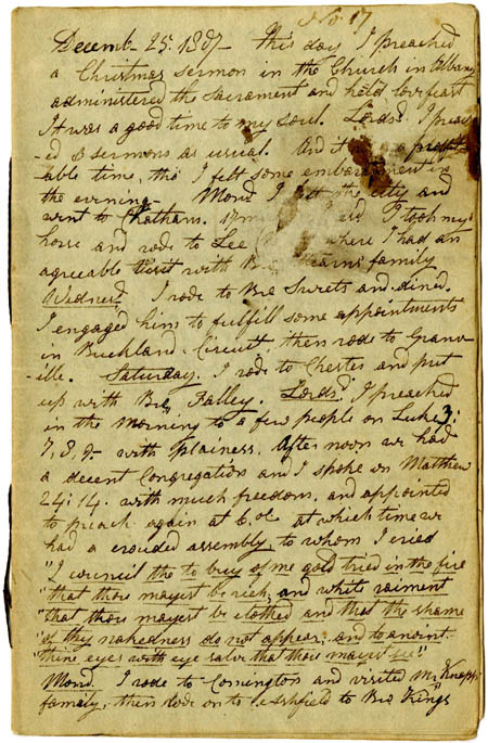 Laban Clark's journal, 1807