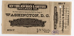 Train ticket from 1891 still intact!