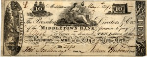 A $10 IOU from the MIddletown bank in May of 1918.