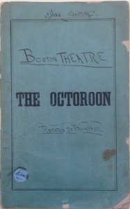 Cover of Octoroon promptbook